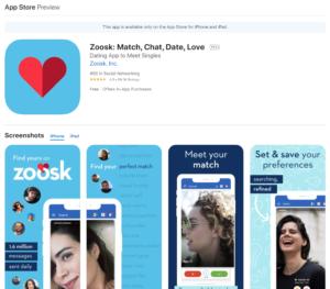 zoosk app rating by app store