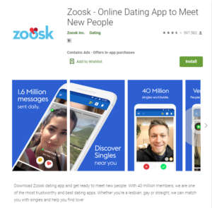 zoosk app rating by google play