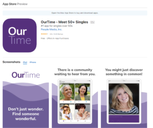 ourtime app rating by app store