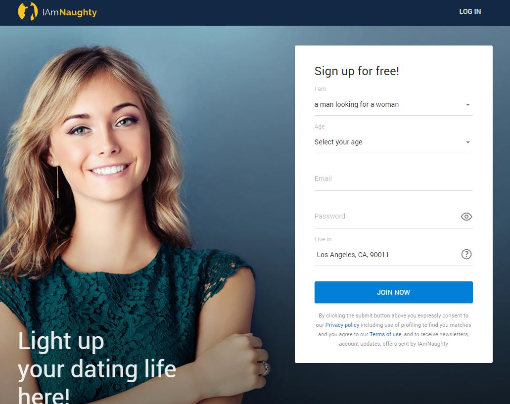 Iamnaughty.com sign up