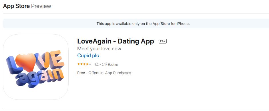 logeagain app rating by app store