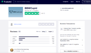 bbwcupid app rating by trustpilot