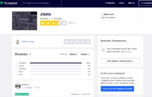 jdate app rating by trustpilot