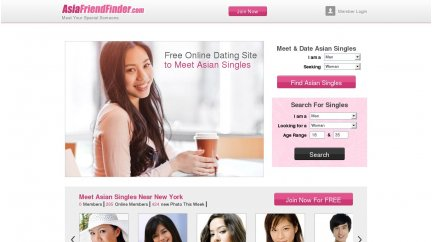 AsiaFriendFinder main page
