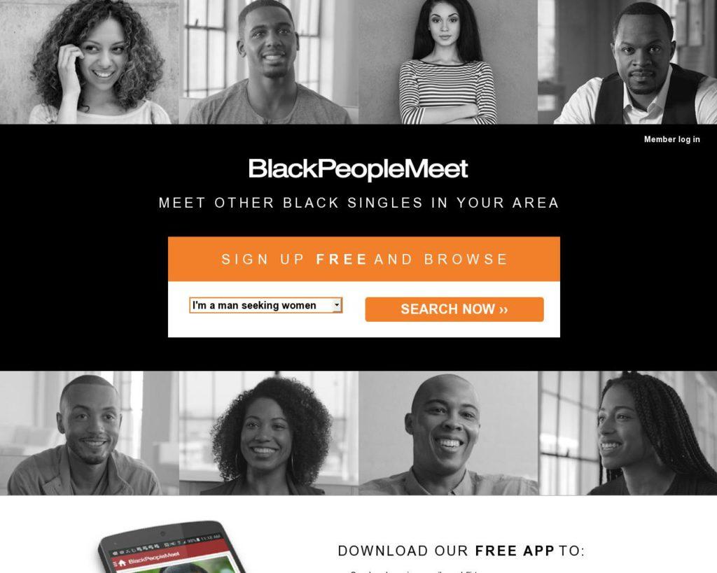 Black People Meet main page