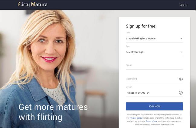flirtymature main page