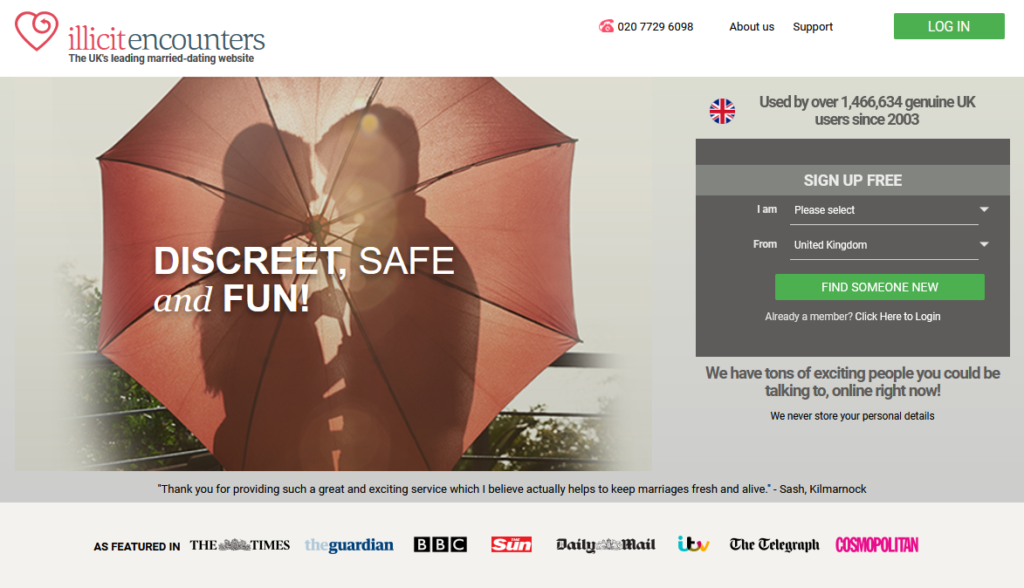 Illicit Encounters main page