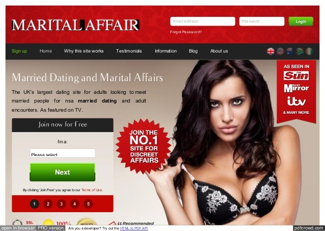 MaritalAffair main page