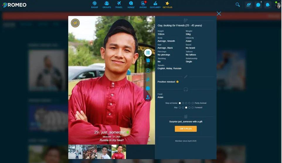 Profile Quality planetromeo