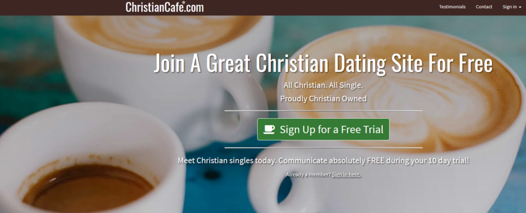 christian cafe main page