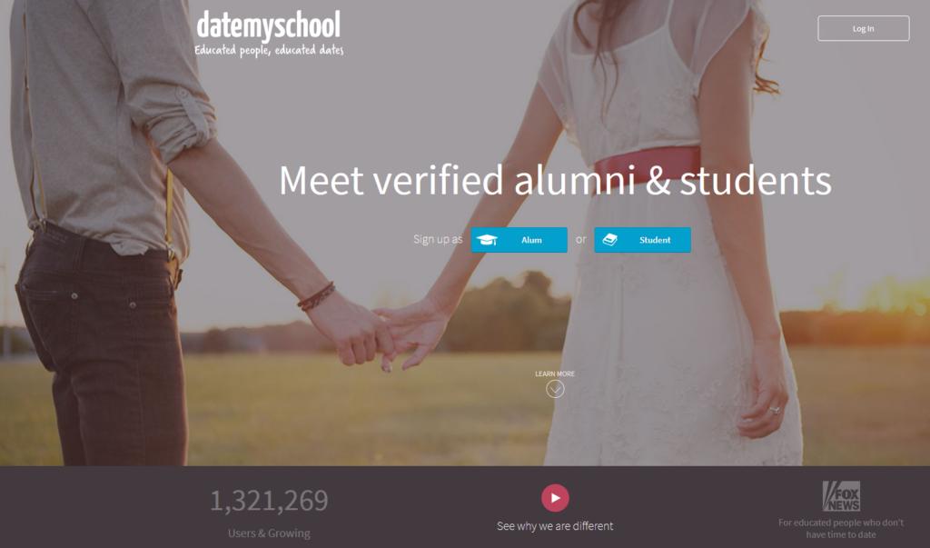 datemyschool main page